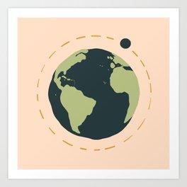 Earth and Moon Art Print