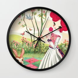 Liselle in Spring Wall Clock