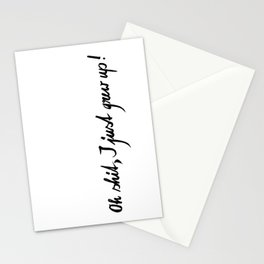 Oh shit! Stationery Cards