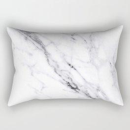 Carrara White Marble Rectangular Pillow