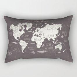 The World Map Rectangular Pillow