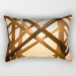 Folly Hammock Sunrise Rectangular Pillow