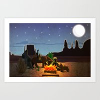 camping Art Prints featuring Camping by plopezjr