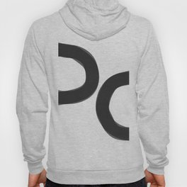 Black And White Abstract Minimalist Paintings Hoody