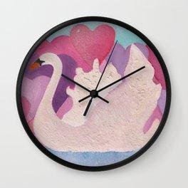 Iced Swan Wall Clock