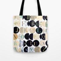 alphabet Tote Bags featuring Alphabet by maria carluccio