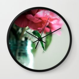 Peony Days Wall Clock
