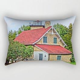 Eagle Bluff Lighthouse Rectangular Pillow