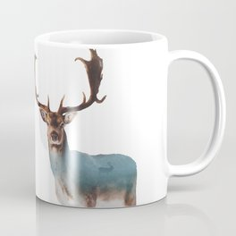 Deer Double Exposure Coffee Mug