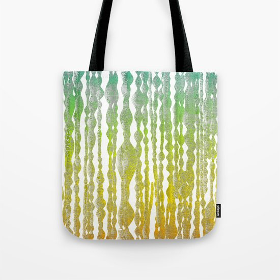 psychedelic stripes - green Tote Bag