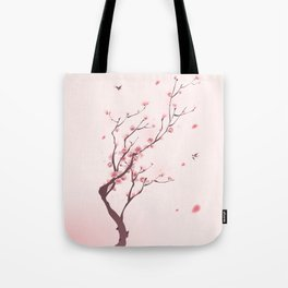 Oriental cherry blossom in spring 003 Tote Bag