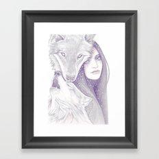 Winter Allies Framed Art Print