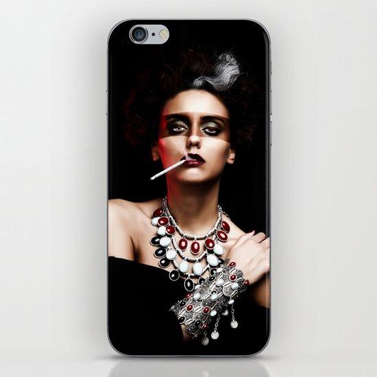 Lady Smoke iPhone & iPod Skin