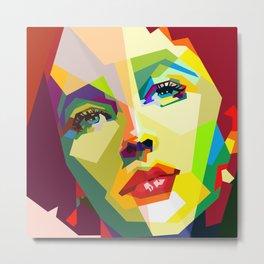 Elizabeth Taylor Pop Art Metal Print