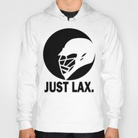 lacrosse Hoodies featuring Lacrosse Just Lax Helmet by YouGotThat.com