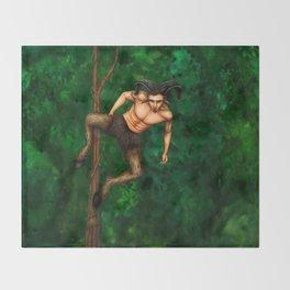 Pole Creatures - Faun Throw Blanket