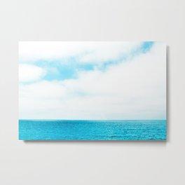Wide Blue Sky Over Summer Beach Metal Print