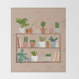 Plant Mama Shelfie Throw Blanket