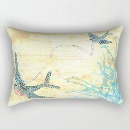 Birds of blue Rectangular Pillow