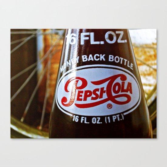 Pepsi nostalgia Canvas Print