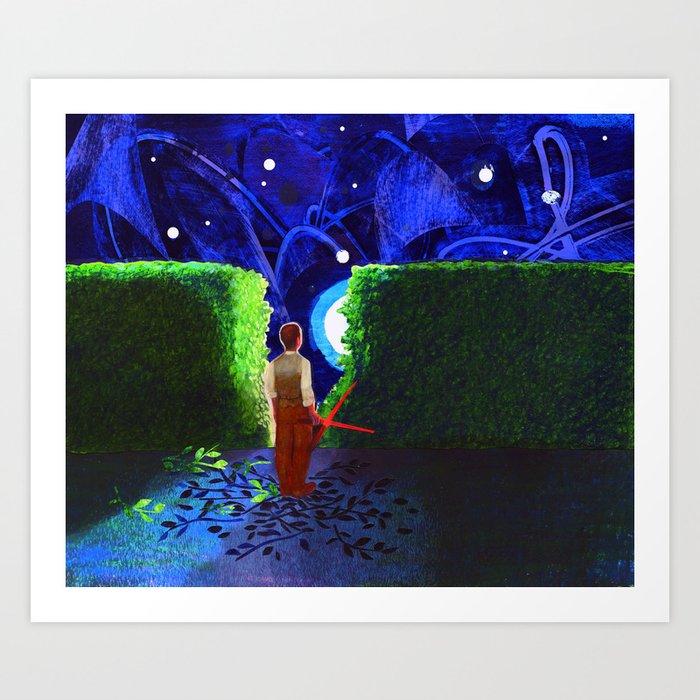 """Boundaries"" by Julia Breckenreid for Nautilus Art Print"