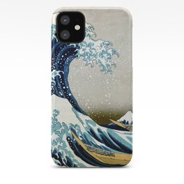 The great wave, famous Japanese artwork iPhone Case