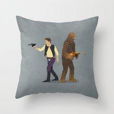 Han & Chewie Throw Pillow