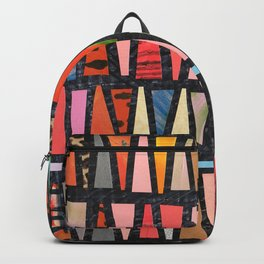 Pink Pyramid Pattern Backpack