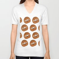 sloths V-neck T-shirts featuring So Many Sloths by tripinmidair