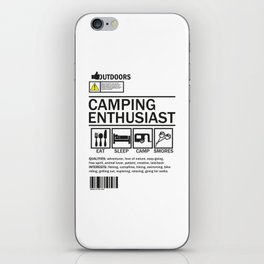 Camping enthusiast iPhone Skin