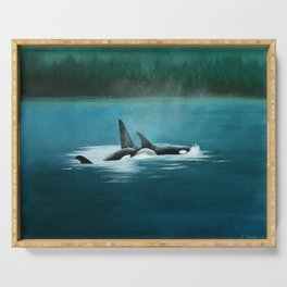 West Coast Orca Serving Tray
