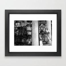 Bag Stall, Covent Garden Market, London Framed Art Print