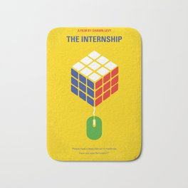 No215 My The Internship minimal movie poster Bath Mat