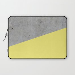 Concrete and Yellow Color Laptop Sleeve