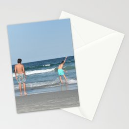 Boys on the Beach (Wrightsville Beach, NC) Stationery Cards