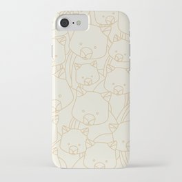 Minimalist Wombat iPhone Case