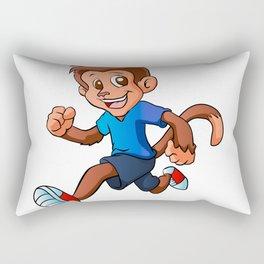 Running monkey . Rectangular Pillow