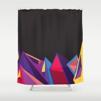 geometry Shower Curtains featuring Geometry by Logan David