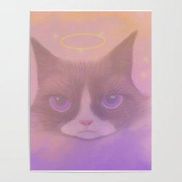 Cosmic Cat - Angel Poster