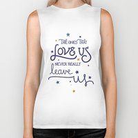 snape Biker Tanks featuring Never leave us by Earthlightened