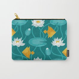 Tangram goldfish and water lillies Carry-All Pouch