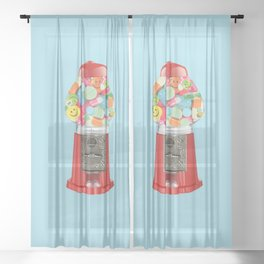 happy pills blue Sheer Curtain