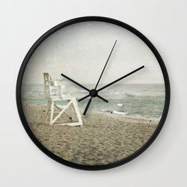 Lifeguard Chair at Dawn Wall Clock