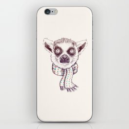 Lemur and scarf  iPhone Skin
