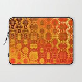 Martian Energies Pattern (bright orange) Laptop Sleeve