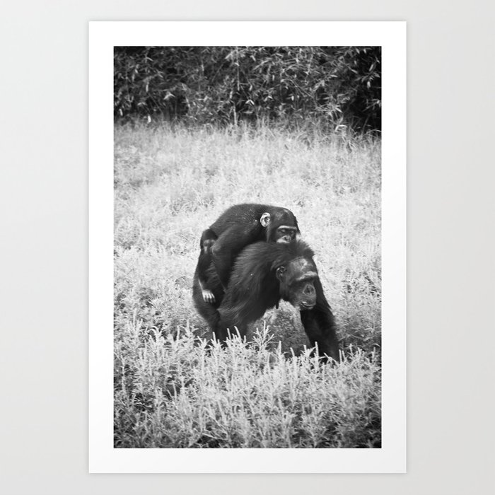 Monkey and Me Art Print