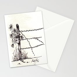Old Fence Post Stationery Cards