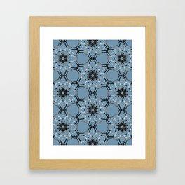 Flowers in Blue-m. Framed Art Print