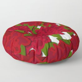 Poinsettias 01 Floor Pillow