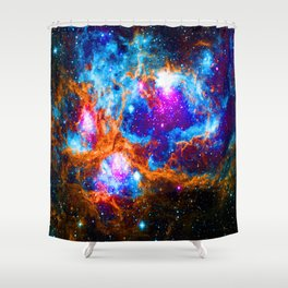 Cosmic Winter Wonderland Shower Curtain